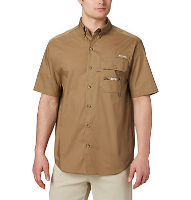 Men's PHG Sharptail™ Short Sleeve Shirt Sharptail™ Short Sleeve Shirt | 466 | L, Flax, RT Edge, front