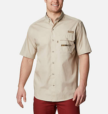 Men's PHG Sharptail™ Short Sleeve Shirt - Big Sharptail™ Short Sleeve Shirt | 466 | 4X, Fossil, RT Edge, front