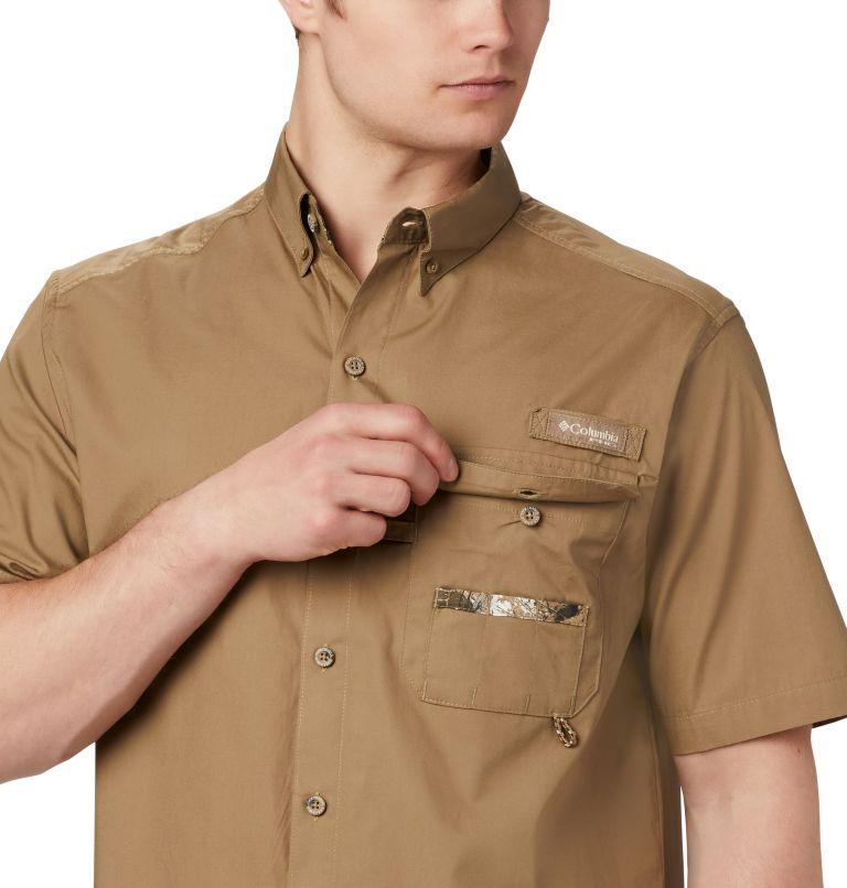 Sharptail™ Short Sleeve Shirt | 251 | 1X Men's PHG Sharptail™ Short Sleeve Shirt - Big, Flax, RT Edge, a2