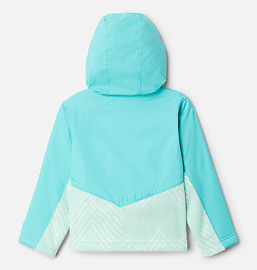 Kids' Toddler Steens Mountain™ Overlay Hooded Jacket Steens Mt™ Overlay Hoodie | 434 | 4T, Sea Ice Chevron Print, Dolphin, back