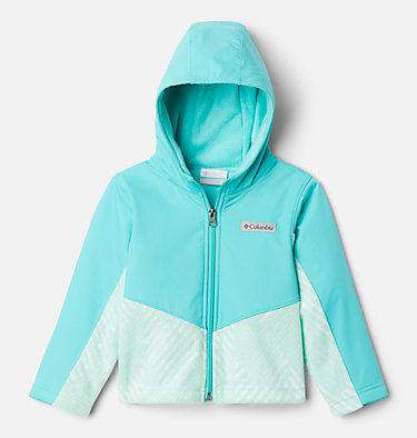 Kids' Toddler Steens Mountain™ Overlay Hooded Jacket Steens Mt™ Overlay Hoodie | 434 | 4T, Sea Ice Chevron Print, Dolphin, front
