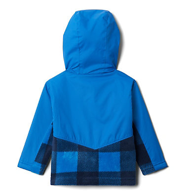 Kids' Toddler Steens Mountain™ Overlay Hooded Jacket Steens Mt™ Overlay Hoodie | 434 | 4T, Bright Indigo Check(B) Print, Brt Indigo, back