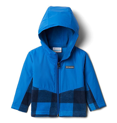 Kids' Toddler Steens Mountain™ Overlay Hooded Jacket Steens Mt™ Overlay Hoodie | 434 | 4T, Bright Indigo Check(B) Print, Brt Indigo, front