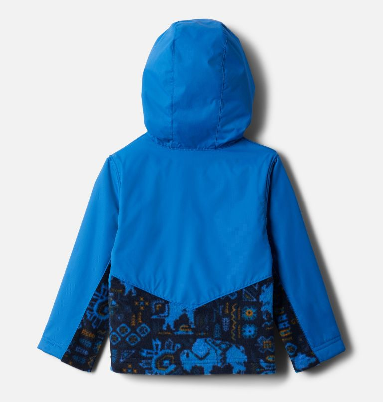 Steens Mt™ Overlay Hoodie | 434 | 4T Kids' Toddler Steens Mountain™ Overlay Hooded Jacket, Brt Indigo Fiercesome Print, Brt Indigo, back