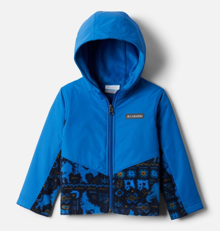 Steens Mt™ Overlay Hoodie | 434 | 4T Kids' Toddler Steens Mountain™ Overlay Hooded Jacket, Brt Indigo Fiercesome Print, Brt Indigo, front