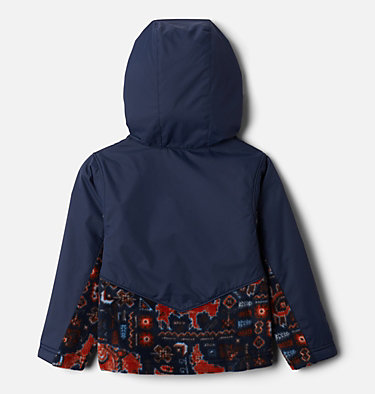 Kids' Toddler Steens Mountain™ Overlay Hooded Jacket Steens Mt™ Overlay Hoodie | 434 | 4T, Coll Navy Fiercesome Print, Coll Navy, back