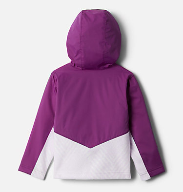 Kids' Toddler Steens Mountain™ Overlay Hooded Jacket Steens Mt™ Overlay Hoodie | 434 | 4T, Pale Lilac Chevron Print, Plum, back