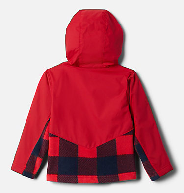 Kids' Toddler Steens Mountain™ Overlay Hooded Jacket Steens Mt™ Overlay Hoodie | 434 | 4T, Mtn Red Check (B) Print, Mtn Red, back