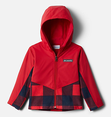 Kids' Toddler Steens Mountain™ Overlay Hooded Jacket Steens Mt™ Overlay Hoodie | 434 | 4T, Mtn Red Check (B) Print, Mtn Red, front