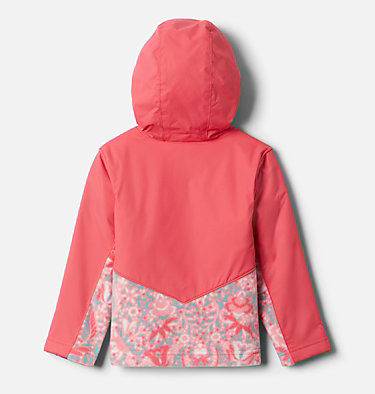 Kids' Toddler Steens Mountain™ Overlay Hooded Jacket Steens Mt™ Overlay Hoodie | 434 | 4T, Brt Geranm Bloom Dot Print, Brt Geranm, back