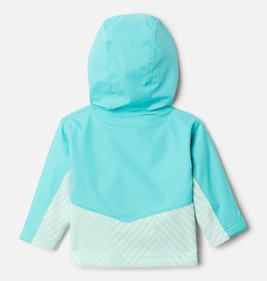 Kids' Infant Steens Mountain™ Overlay Hooded Jacket Steens Mt™ Overlay Hoodie | 673 | 18/24, Sea Ice Chevron Print, Dolphin, back