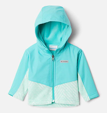 Kids' Infant Steens Mountain™ Overlay Hooded Jacket Steens Mt™ Overlay Hoodie | 673 | 18/24, Sea Ice Chevron Print, Dolphin, front