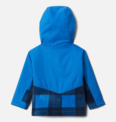 Kids' Infant Steens Mountain™ Overlay Hooded Jacket Steens Mt™ Overlay Hoodie | 673 | 18/24, Bright Indigo Check(B) Print, Brt Indigo, back