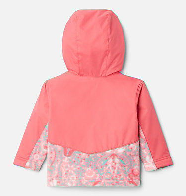 Kids' Infant Steens Mountain™ Overlay Hooded Jacket Steens Mt™ Overlay Hoodie | 673 | 18/24, Brt Geranm Bloom Dot Print, Brt Geranm, back