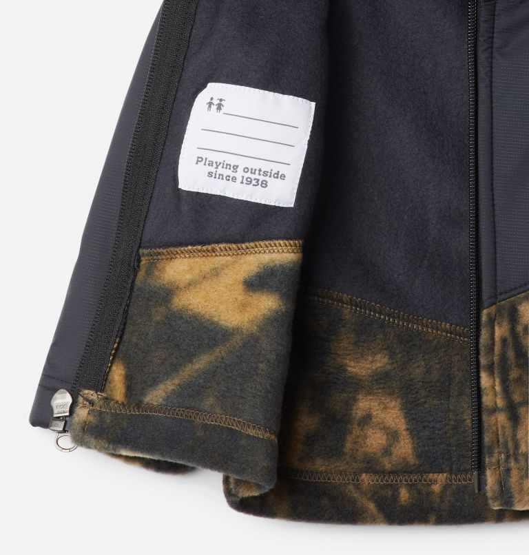 Steens Mt™ Overlay Hoodie | 940 | 6/12 Kids' Infant Steens Mountain™ Overlay Hooded Jacket, Timberwolf Print, Black, a1