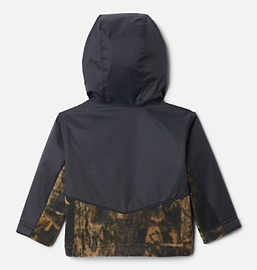 Kids' Infant Steens Mountain™ Overlay Hooded Jacket Steens Mt™ Overlay Hoodie | 673 | 18/24, Timberwolf Print, Black, back