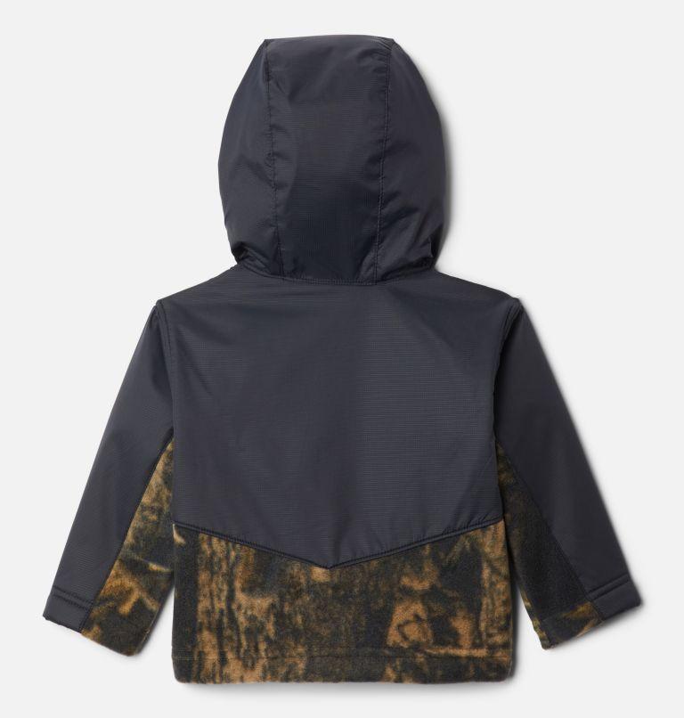 Steens Mt™ Overlay Hoodie | 940 | 6/12 Kids' Infant Steens Mountain™ Overlay Hooded Jacket, Timberwolf Print, Black, back