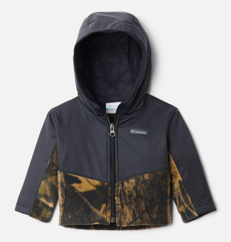 Steens Mt™ Overlay Hoodie | 940 | 6/12 Kids' Infant Steens Mountain™ Overlay Hooded Jacket, Timberwolf Print, Black, front
