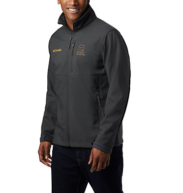 Men's Collegiate Ascender™ Softshell Jacket - Notre Dame CLG Ascender™ Softshell Jacket | 431 | L, ND - Shark, front