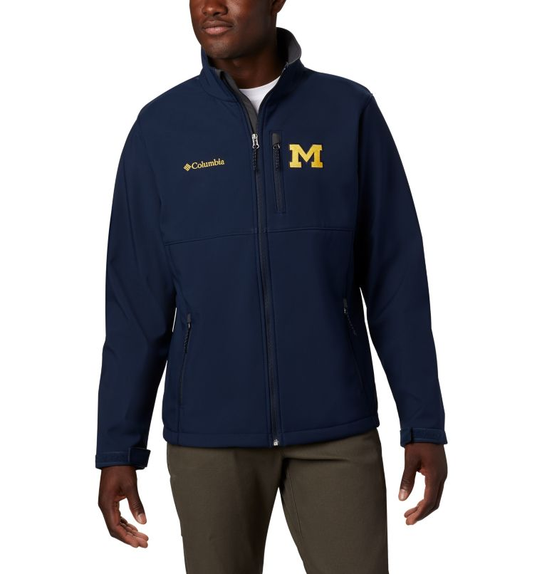 Men's Collegiate Ascender™ Softshell Jacket - Michigan Men's Collegiate Ascender™ Softshell Jacket - Michigan, front