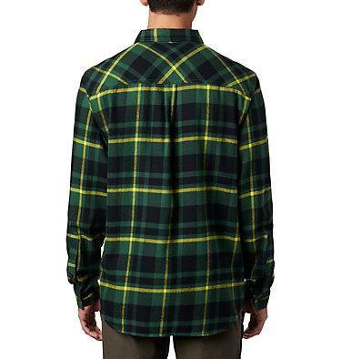Men's Collegiate Flare Gun™ Flannel Long Sleeve Shirt - Oregon Collegiate Flare Gun™ Flannel  | 348 | M, UO - Forest Plaid, back