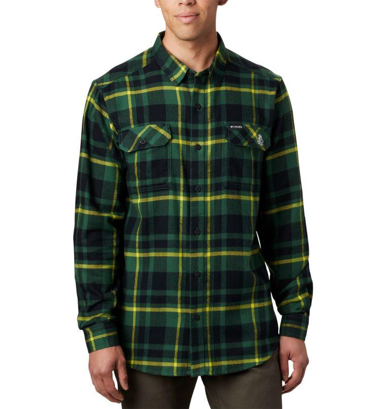 Men's Collegiate Flare Gun™ Flannel Long Sleeve Shirt - Oregon Men's Collegiate Flare Gun™ Flannel Long Sleeve Shirt - Oregon, front