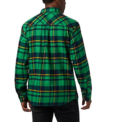 Men's Collegiate Flare Gun™ Flannel Long Sleeve Shirt - Notre Dame CLG Flare Gun™ Flannel LS Shirt | 560 | XXL, ND - Fuse Green Plaid, back