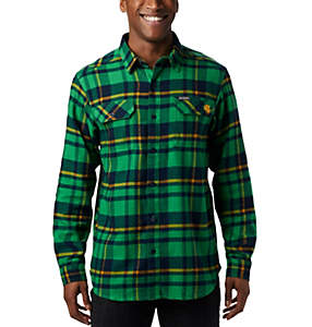 Men's Collegiate Flare Gun™ Flannel Long Sleeve Shirt - Notre Dame