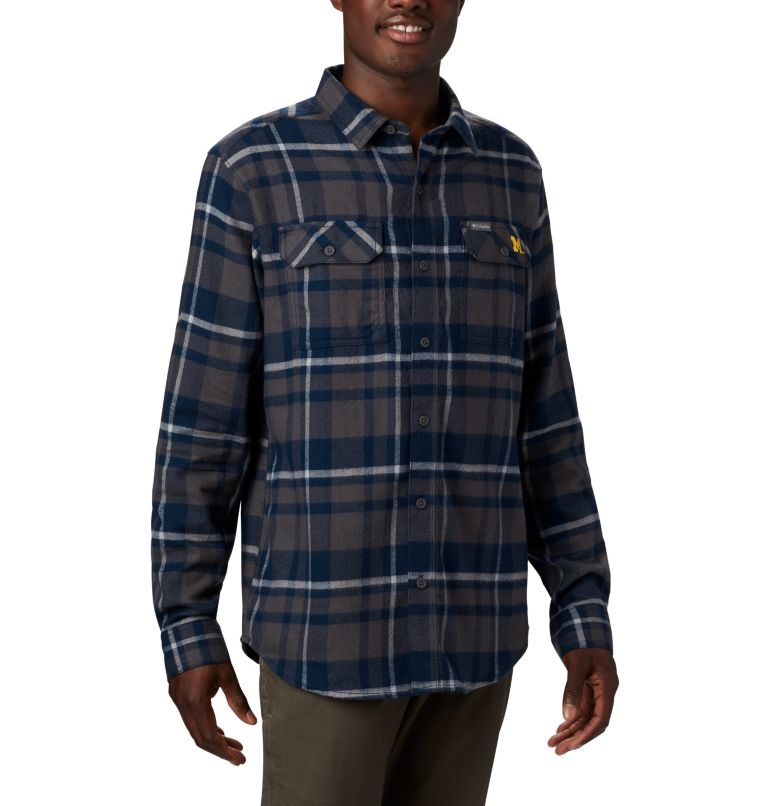 Men's Collegiate Flare Gun™ Flannel Long Sleeve Shirt - Michigan Men's Collegiate Flare Gun™ Flannel Long Sleeve Shirt - Michigan, a1