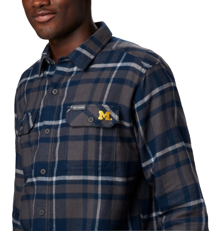 Men's Collegiate Flare Gun™ Flannel Long Sleeve Shirt - Michigan Men's Collegiate Flare Gun™ Flannel Long Sleeve Shirt - Michigan, a2
