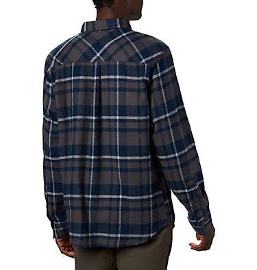 Men's Collegiate Flare Gun™ Flannel Long Sleeve Shirt - Michigan CLG Flare Gun™ Flannel LS Shirt | 427 | XXL, UM - Collegiate Navy Plaid, back