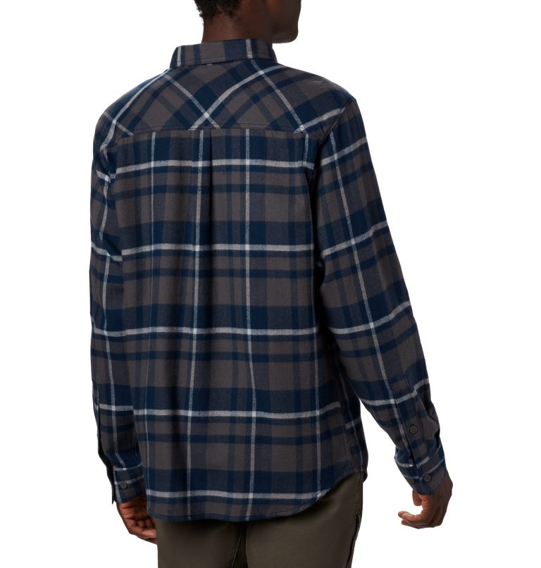 Men's Collegiate Flare Gun™ Flannel Long Sleeve Shirt - Michigan Men's Collegiate Flare Gun™ Flannel Long Sleeve Shirt - Michigan, back