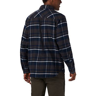 Men's Collegiate Flare Gun™ Flannel Long Sleeve Shirt - Notre Dame CLG Flare Gun™ Flannel LS Shirt | 560 | XXL, ND - Collegiate Navy Plaid, back