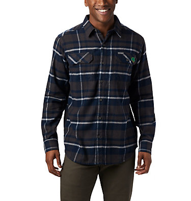 Men's Collegiate Flare Gun™ Flannel Long Sleeve Shirt - Notre Dame CLG Flare Gun™ Flannel LS Shirt | 560 | XXL, ND - Collegiate Navy Plaid, front