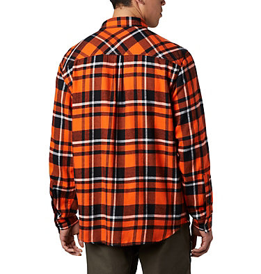 Men's Collegiate Flare Gun™ Flannel Long Sleeve Shirt - Oregon State CLG Flare Gun™ Flannel LS Shirt | 822 | M, OSU - Tangy Orange Plaid, back