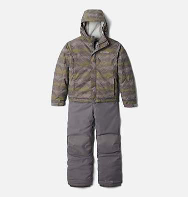 Ensemble Buga™ Set Junior Buga™ Set | 023 | XS, City Grey Dot Scape Print, Columbia Grey, front