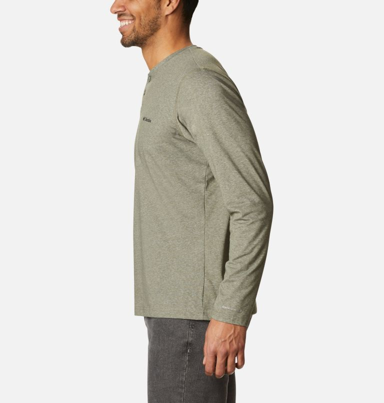 Thistletown Park™ Henley | 397 | XL Men's Thistletown Park™ Henley, Stone Green Heather, a1