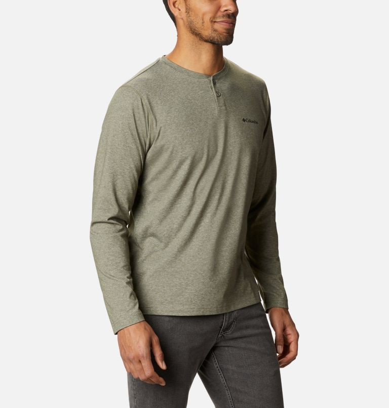 Thistletown Park™ Henley | 397 | XL Men's Thistletown Park™ Henley, Stone Green Heather, a3