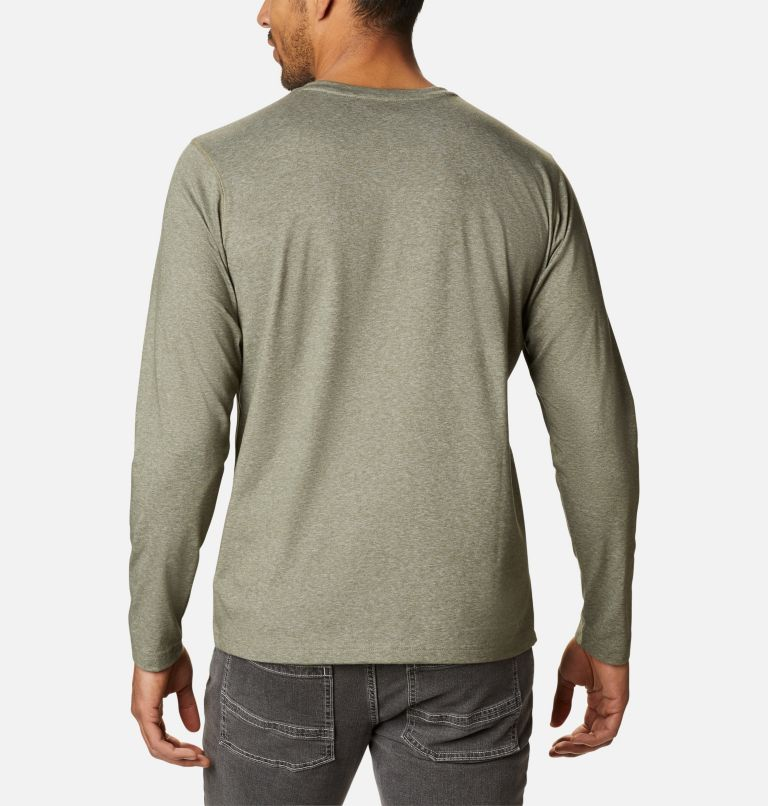 Thistletown Park™ Henley | 397 | XL Men's Thistletown Park™ Henley, Stone Green Heather, back