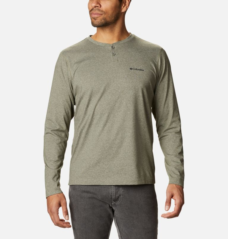 Thistletown Park™ Henley | 397 | XL Men's Thistletown Park™ Henley, Stone Green Heather, front