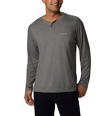 Men's Thistletown Park™ Henley - Tall Thistletown Park™ Henley | 397 | LT, Charcoal Heather, front
