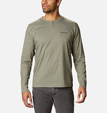 Men's Thistletown Park™ Henley - Tall Thistletown Park™ Henley | 397 | LT, Stone Green Heather, front