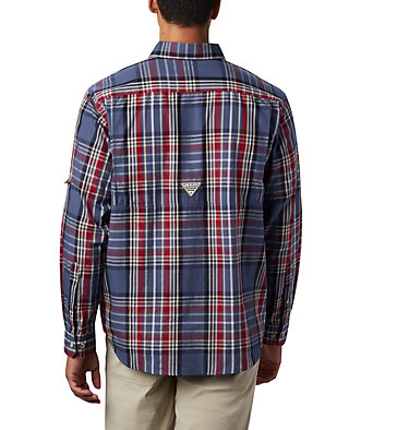 Men's PHG Super Sharptail™ Long Sleeve Shirt Super Sharptail™ Long Sleeve S | 867 | S, Beet Tartan, back