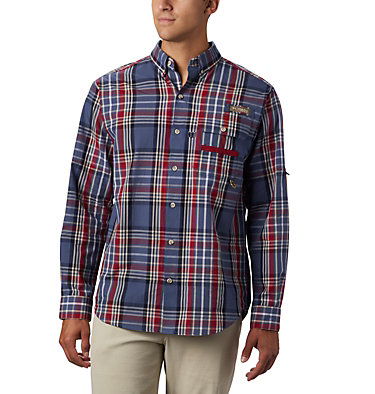 Men's PHG Super Sharptail™ Long Sleeve Shirt Super Sharptail™ Long Sleeve S | 867 | S, Beet Tartan, front