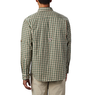Men's PHG Super Sharptail™ Long Sleeve Shirt Super Sharptail™ Long Sleeve S | 867 | S, Backcountry Orange Gingham, back