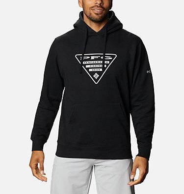 Men's PFG Triangle™ Hoodie - Big PFG Triangle™ Hoodie   012   4X, Black, Cool Grey, front