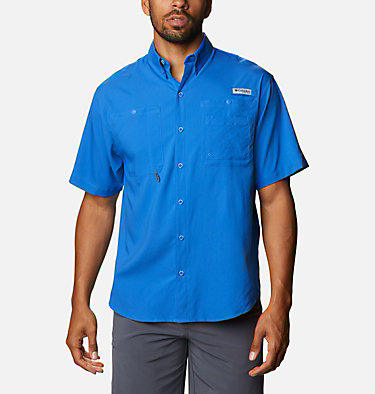 Men's PFG Crystal Springs™ Short Sleeve Shirt Crystal Springs™ Short Sleeve Shirt | 469 | L, Vivid Blue, front