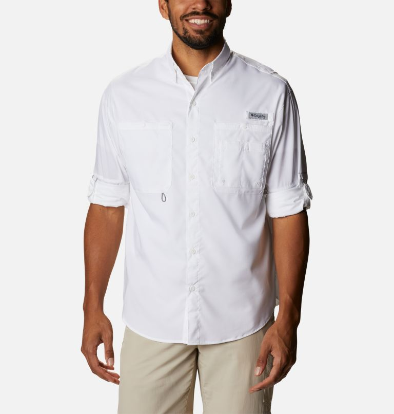 Crystal Springs™ Long Sleeve Shirt | 100 | XS Men's PFG Crystal Springs™ Long Sleeve Shirt, White, a4