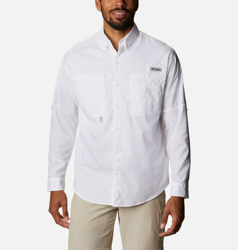 Crystal Springs™ Long Sleeve Shirt | 100 | XS Men's PFG Crystal Springs™ Long Sleeve Shirt, White, front