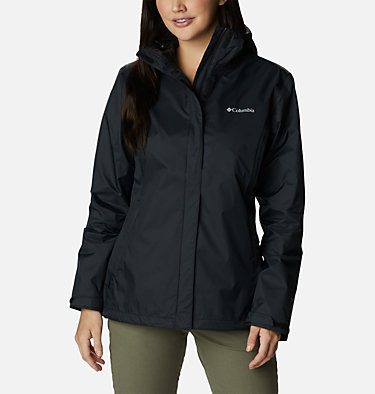Women's Tested Tough in Pink™ Rain Jacket II Tested Tough in Pink™ Rain Jacket II | 011 | XXL, Black, front